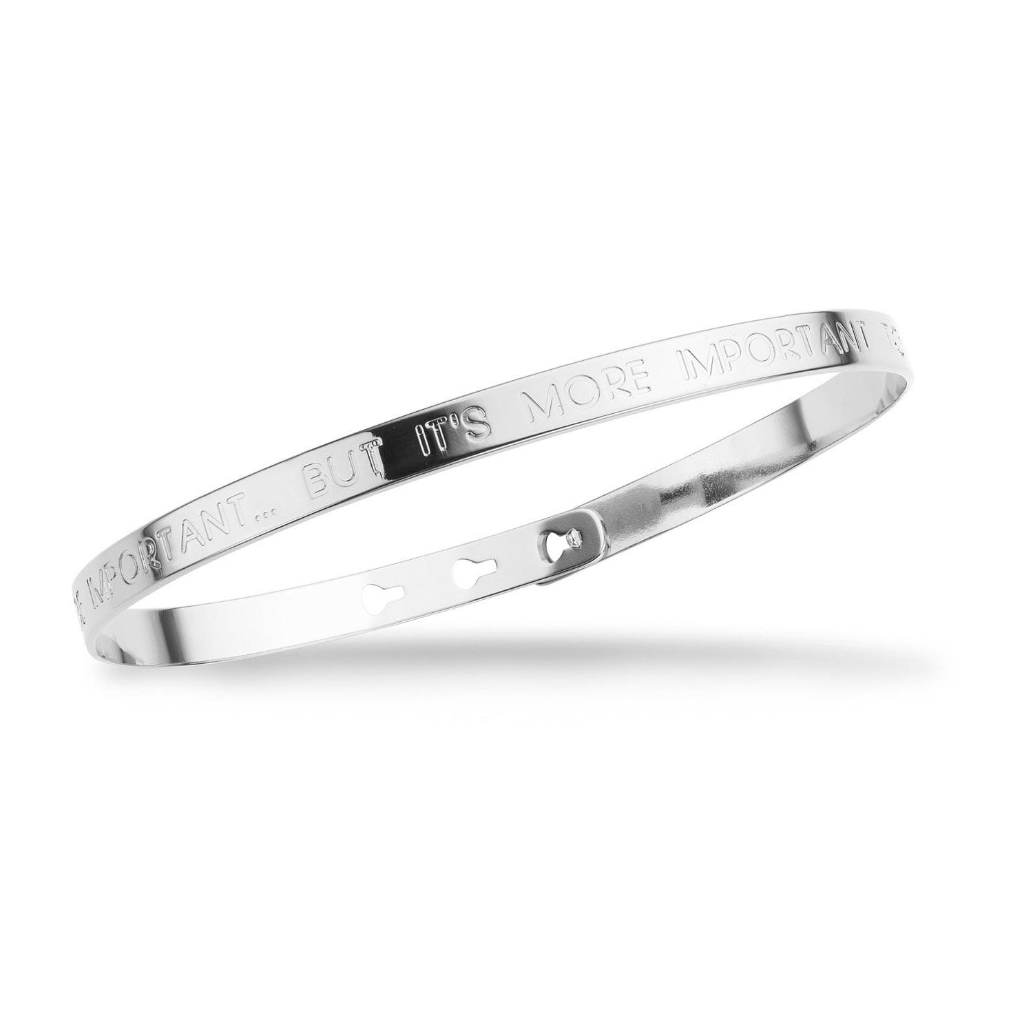 Mya Bay Silver-Plated 'To Be Important' Bangle