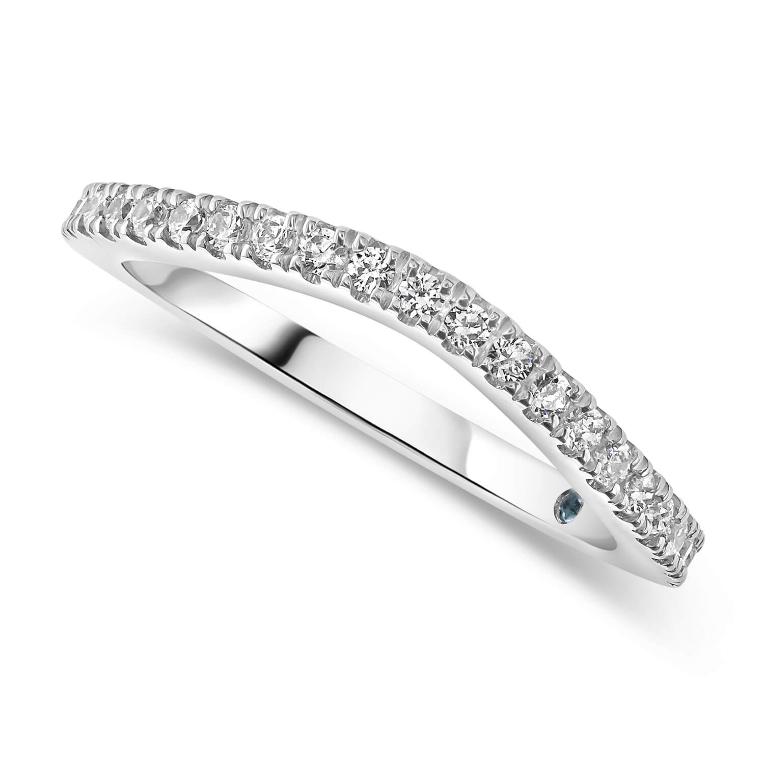 Kathy de Stafford 18ct White Gold Claw Set Dip Ring 0.20ct