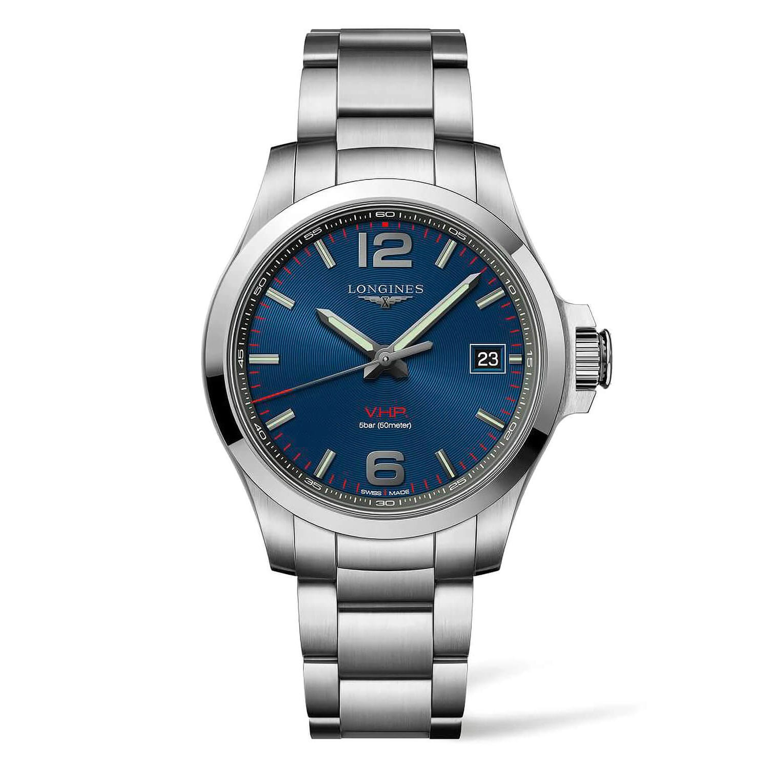 Longines Conquest V.H.P. Blue Dial Steel Bracelet Men's Watch