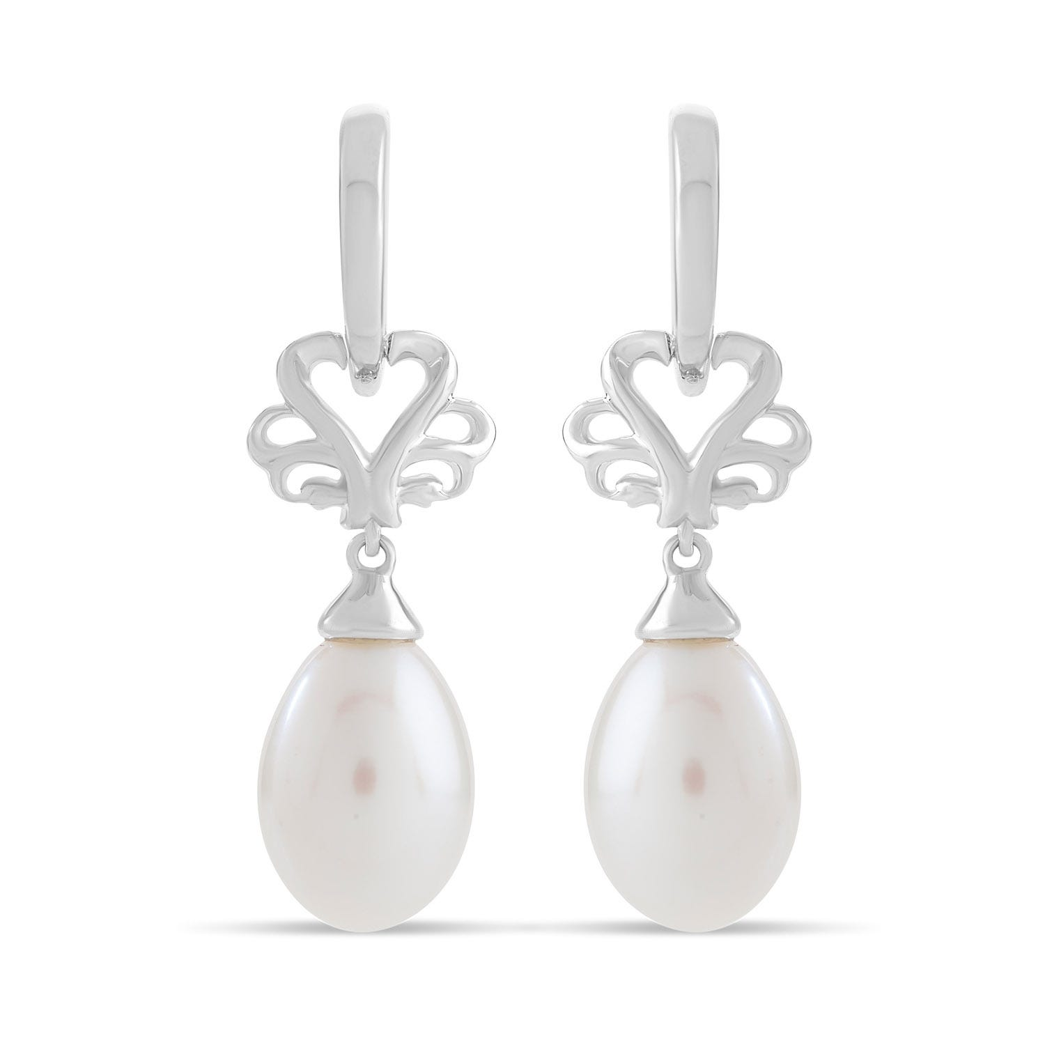 Kathy de Stafford Sterling Silver and Fresh Water Pearl Earrings