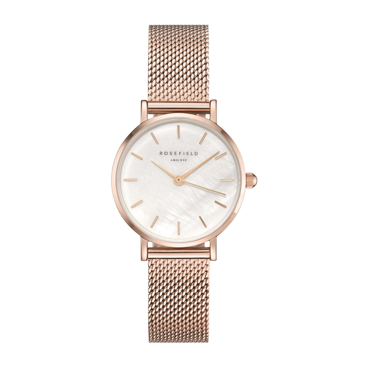 Rosefield The Small Edit Pearl Dial Rose Gold Ladies' Watch