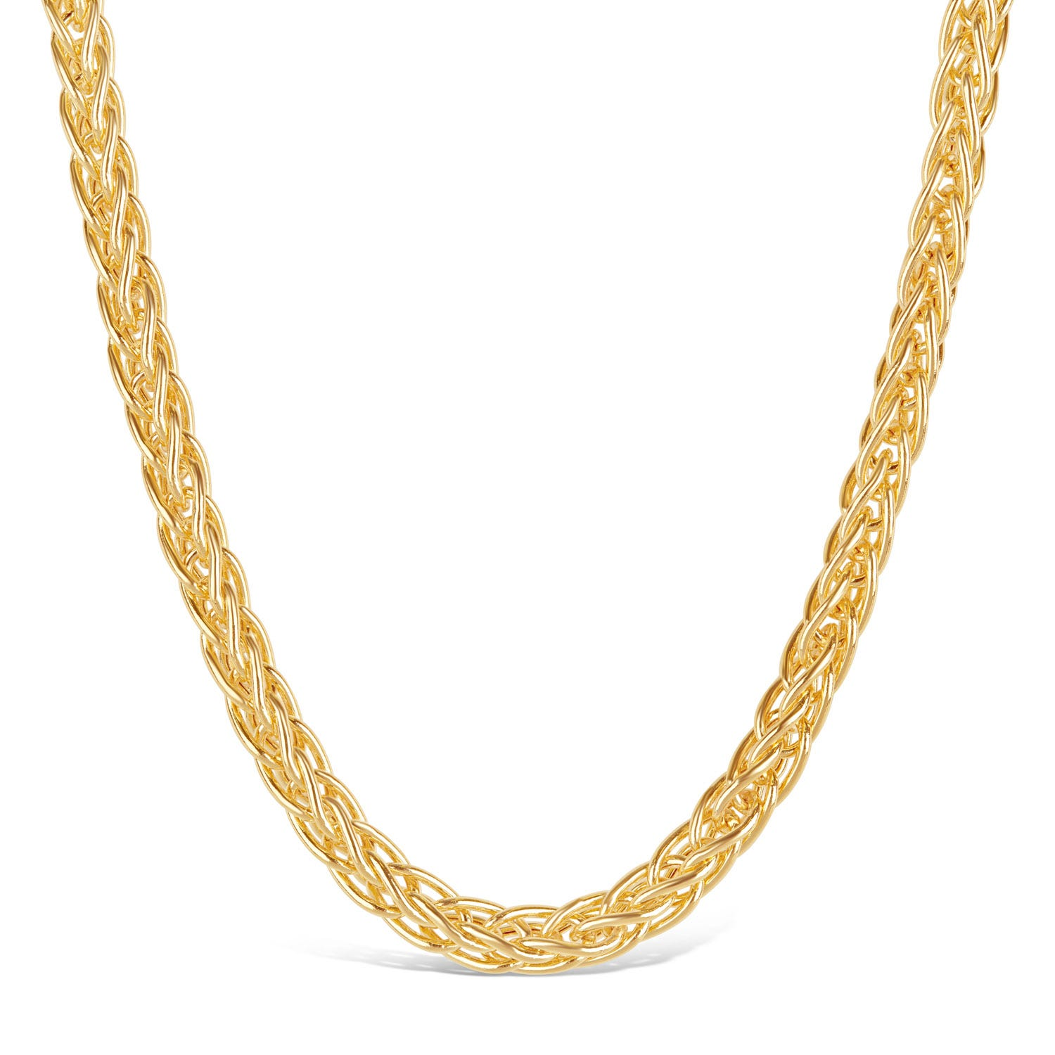 9ct Yellow Gold Spiga Chain Link Necklace