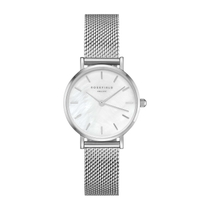 Rosefield The Small Edit Pearl Dial Silver Steel Ladies' Watch