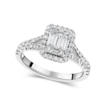 Special Price - 18ct White Gold 0.70ct Diamond Baguette Cluster Ring