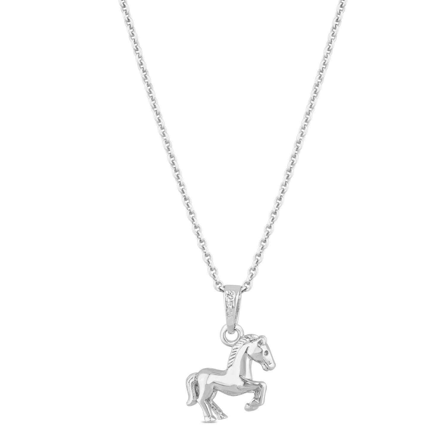 Little Treasure Sterling Silver Horse Pendant