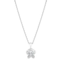 Little Treasure Sterling Silver Cubic Zirconia Butterfly Pendant
