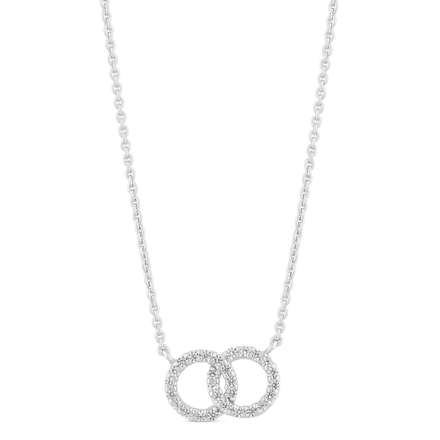 Little Treasure Sterling Silver Cubic Zirconia Circle Necklet
