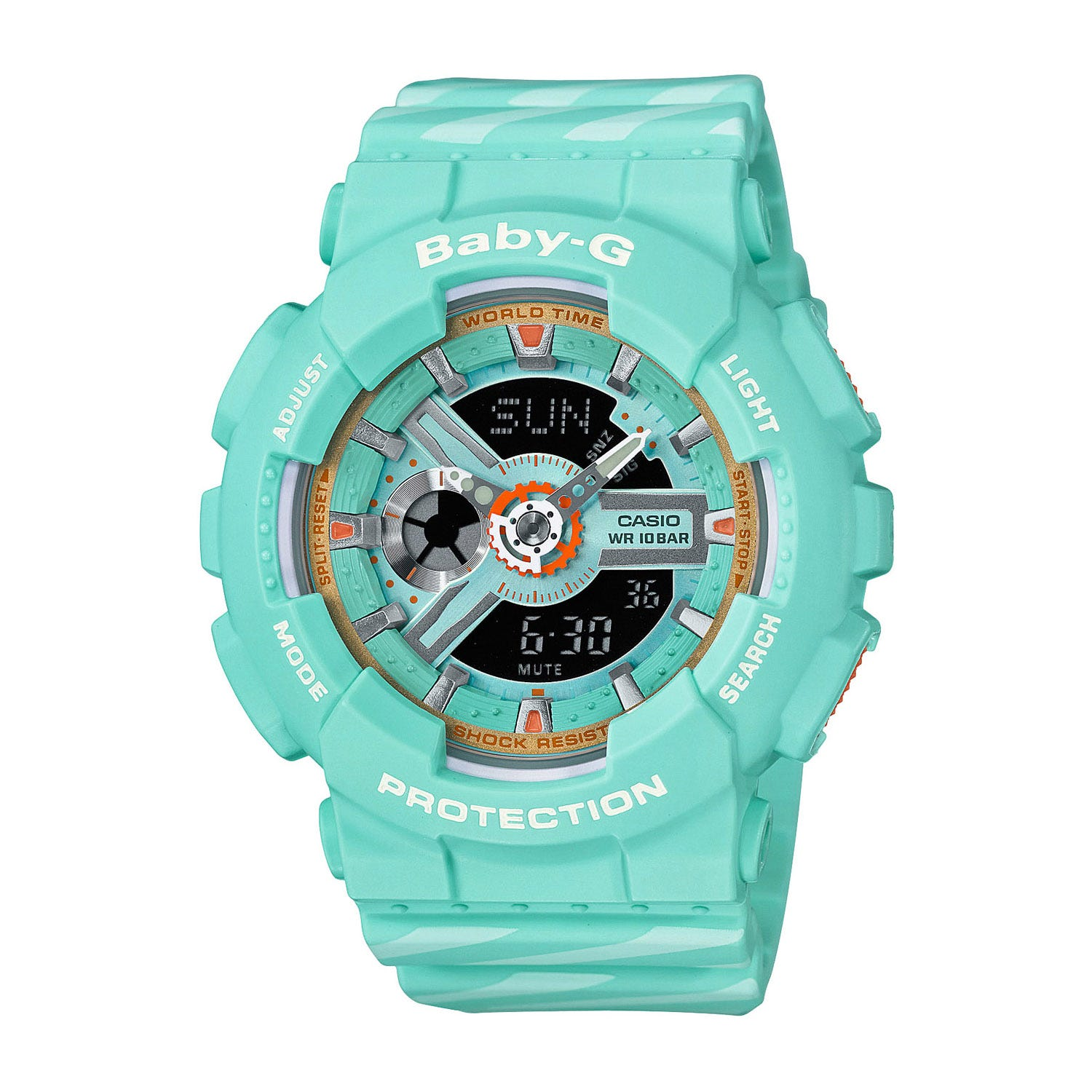 Casio Baby-G Turquoise Dial Camouflage Rubber Strap Ladies' Watch