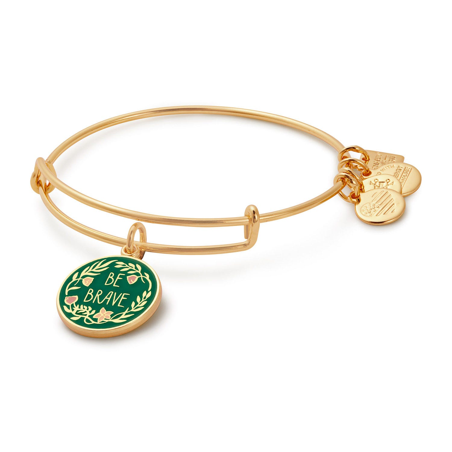 Alex And Ani High-Shine Yellow Gold-Plated Be Brave 'Special Olympics' Bangle