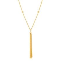 9ct Yellow Gold Tassel Beaded Chain Necklet