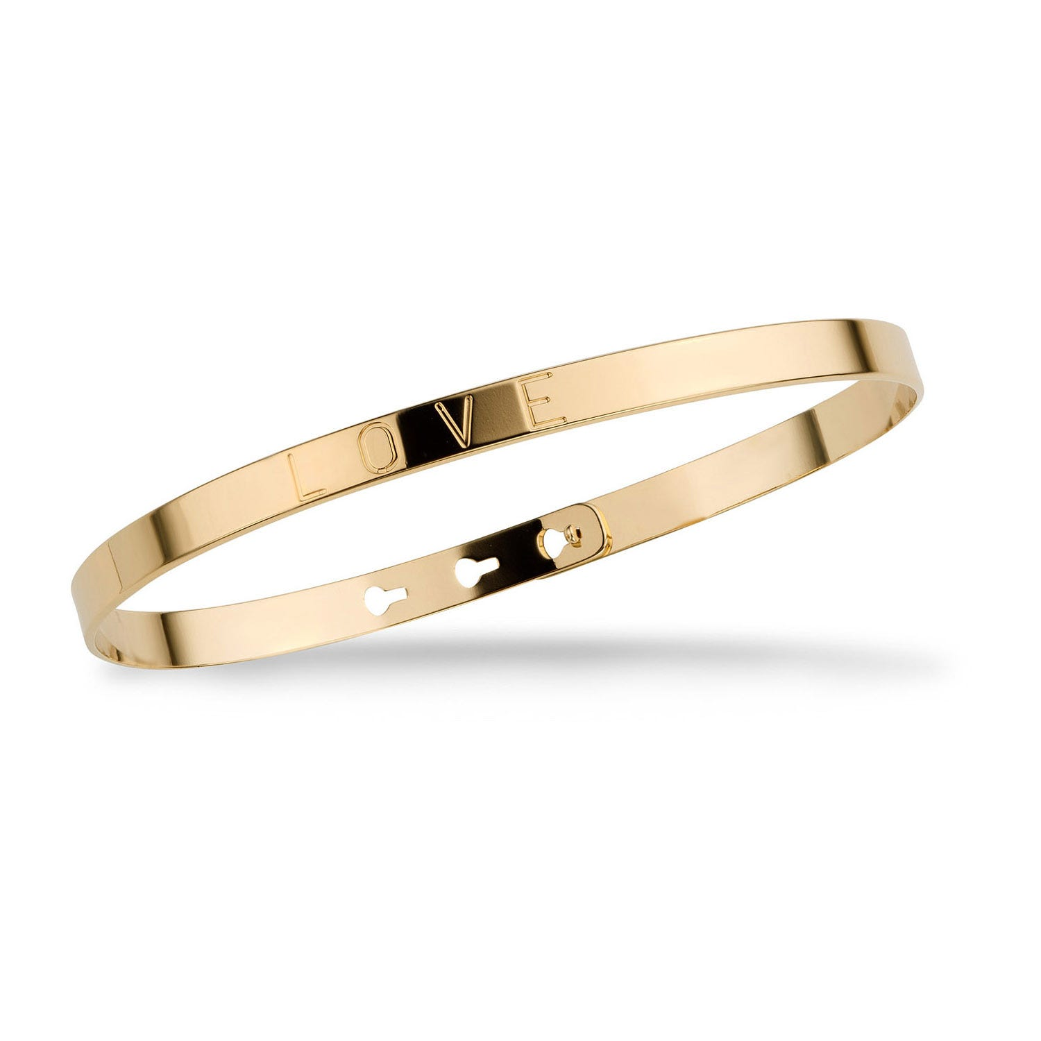 Mya Bay Yellow Gold-Plated 'Love' Bangle