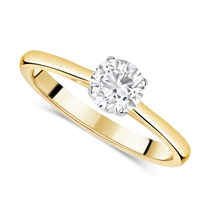 18ct Yellow Gold 0.75ct Round Diamond Fields Setting Ring