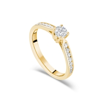 18ct Yellow Gold 0.50ct Diamond Fields Setting Shoulders Ring
