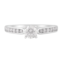 18ct White Gold 0.75ct Diamond Fields Setting Shoulders Ring