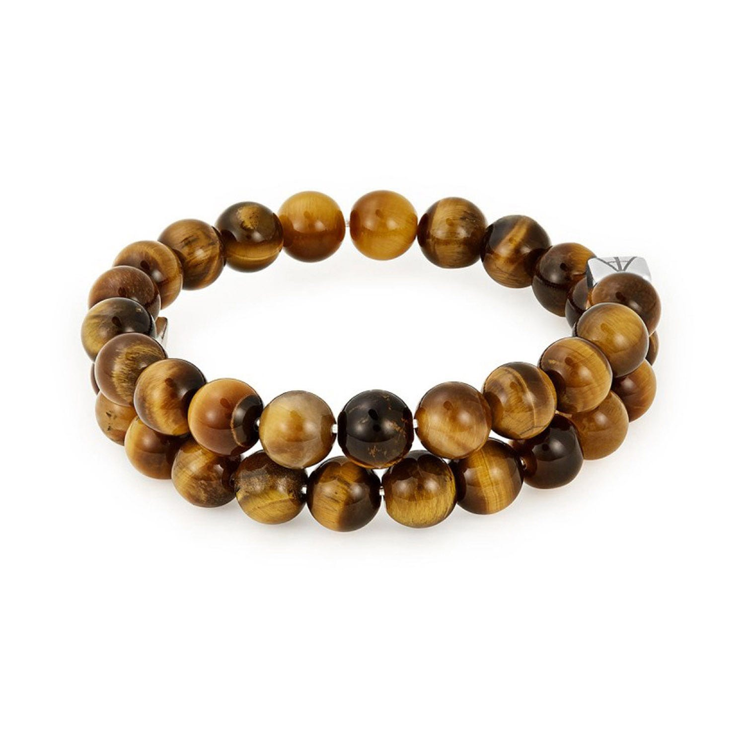 Alex And Ani Beaded Tiger's Eye Men's Wrap Bracelet