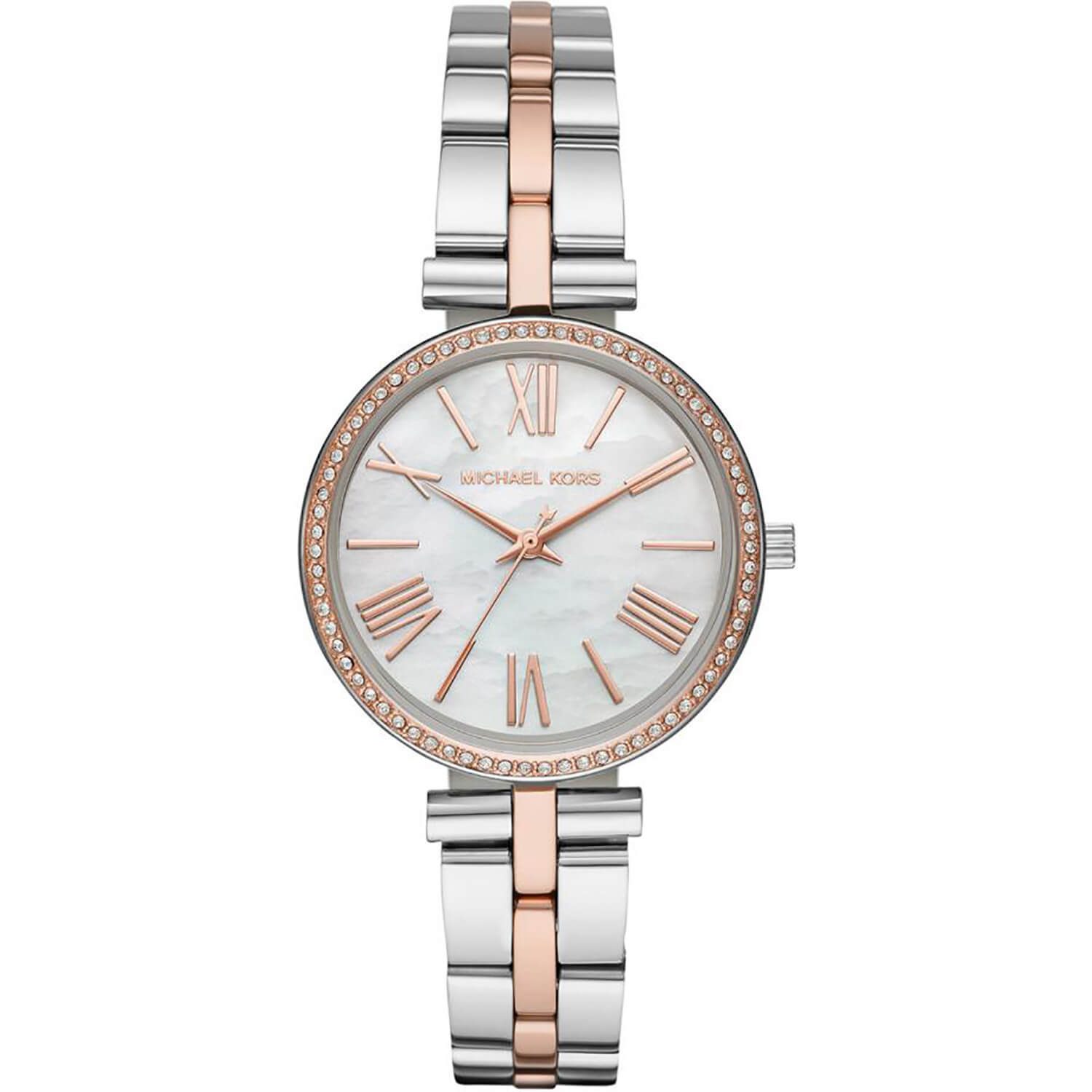 Michael Kors Maci Pearl & Crystal 34mm Ladies' Watch