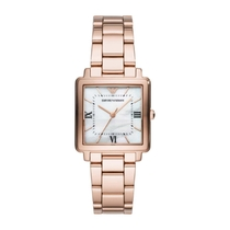 Emporio Armani Mother Of Pearl & Rose Gold Tone Bracelet Watch