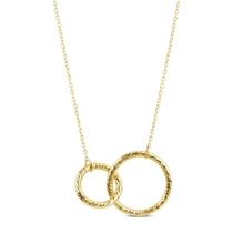 9ct Yellow Gold Double Circle Necklet