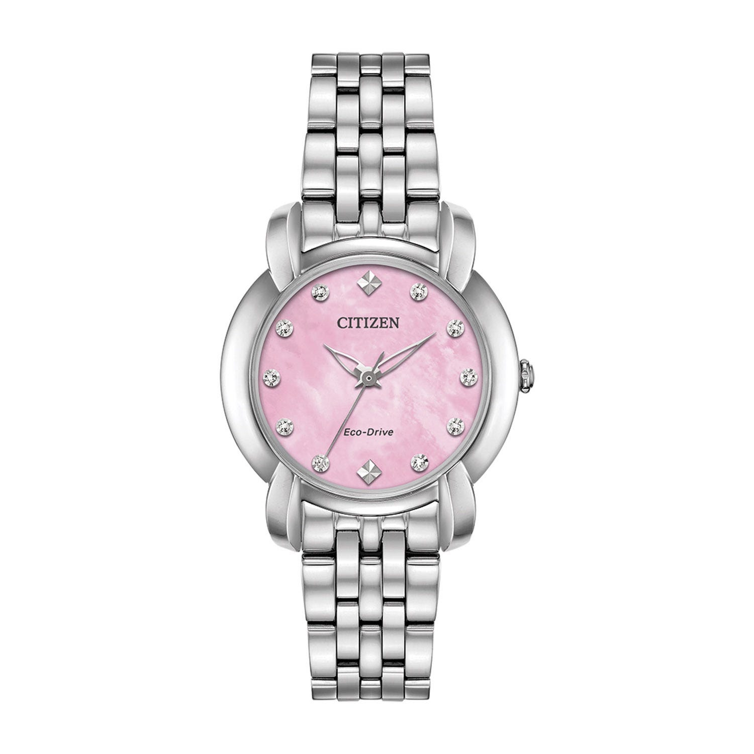 Citizen Eco-Drive Pink Pearl & Crystal 30mm Ladies' Watch