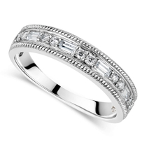 Kathy De Stafford's 18ct White Gold 0.24ct Diamond Round & Baguette Ring