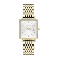 Rosefield The Boxy Yellow Gold Steel 28mm Ladies' Watch