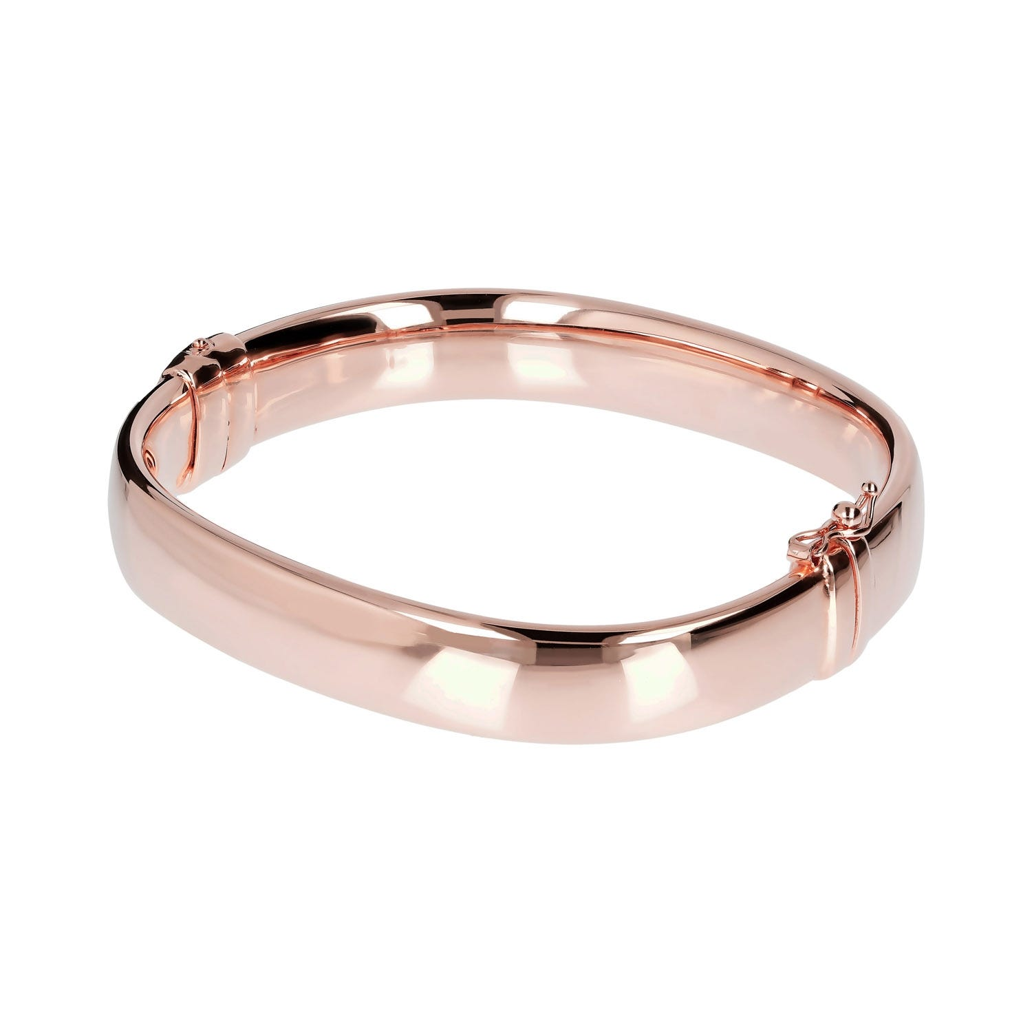 Bronzallure Nouveau 18ct Rose Gold-Plated Bangle