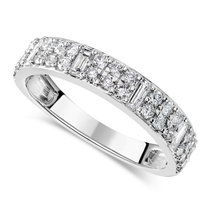 18ct White Gold 0.50ct Diamond Baguette Ring