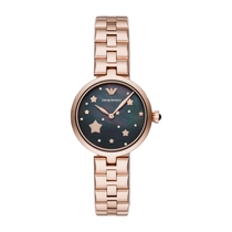 Emporio Armani Pearl & Rose Gold 32mm Ladies' Watch
