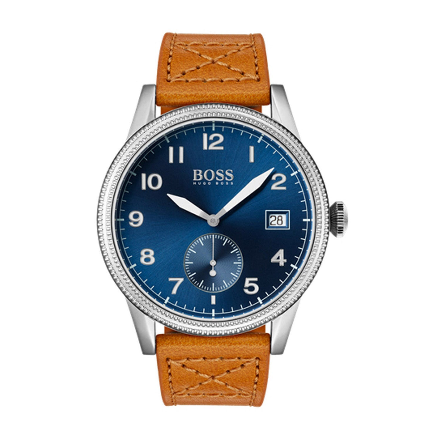 Hugo Boss Classic Legacy Blue & Tan Men's Watch