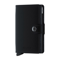 Secrid Matte Black Leather Miniwallet