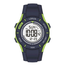 Lorus Digital Dial Dark Blue Green Childrens Watch