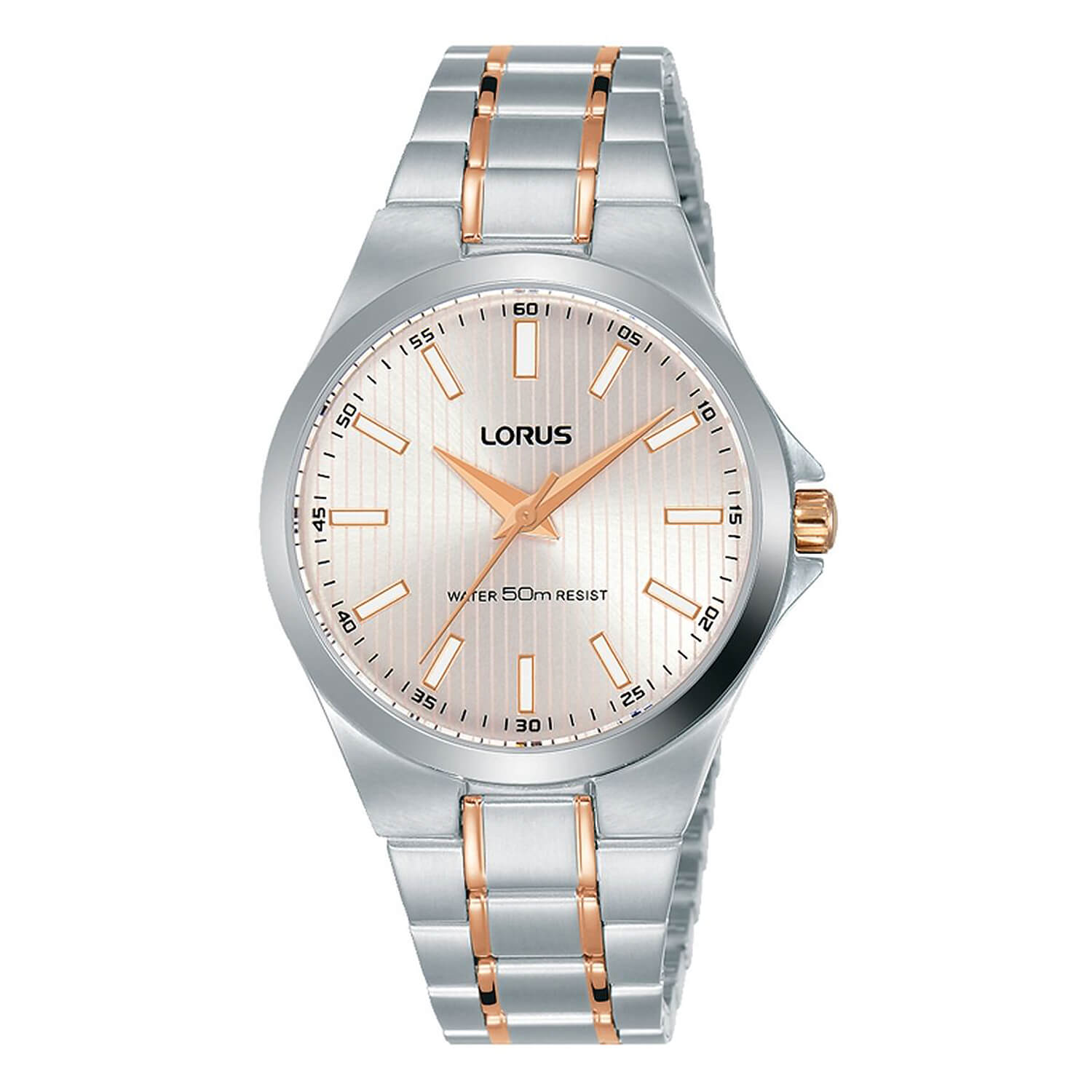 Lorus Silver and Rose Gold Two Tone Bracelet 34mm Ladies Watch
