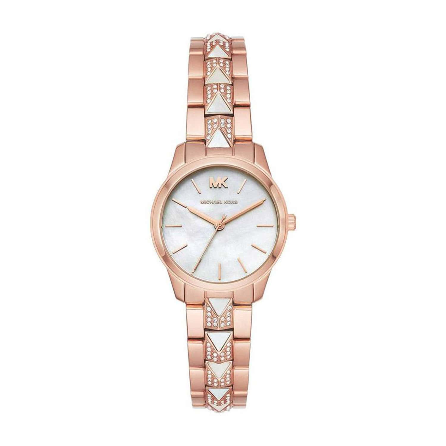 Michael Kors Runway Mercer Rose Gold Tone Ladies Watch