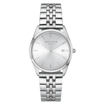 Rosefield The Ace Silver Dial Stainless Steel Bracelet Watch