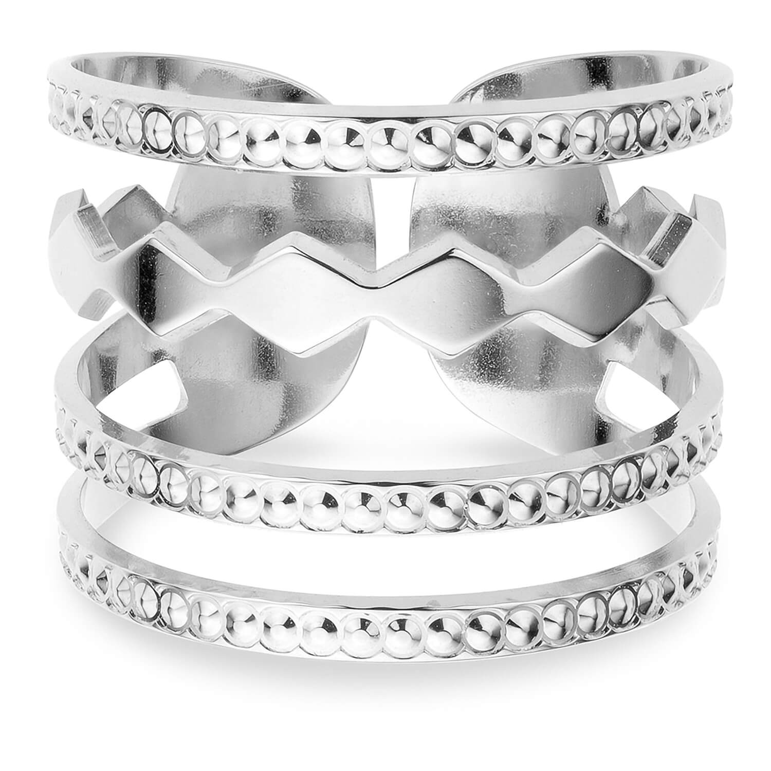 Mya Bay Silver Confetti Ladies Ring
