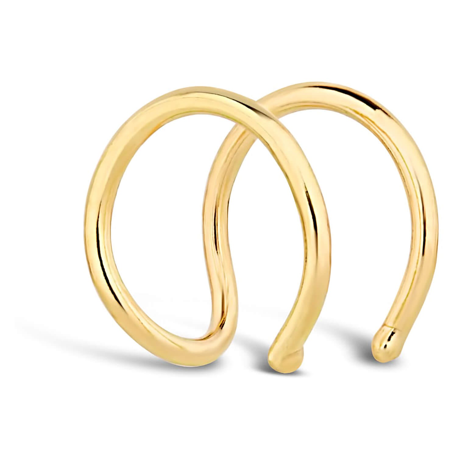 9ct Yellow Gold Double Strand Open Single Ear Cuff
