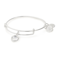 Alex And Ani Silver-Tone Swarovski Crystal April Birthstone Bangle