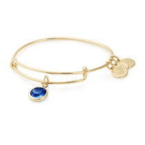 Alex And Ani Gold-Tone Sapphire Swarovski Crystal September Birthstone Bangle