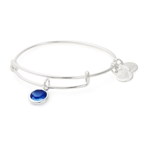 Alex And Ani Silver-Tone Sapphire Swarovski Crystal September Birthstone Bangle