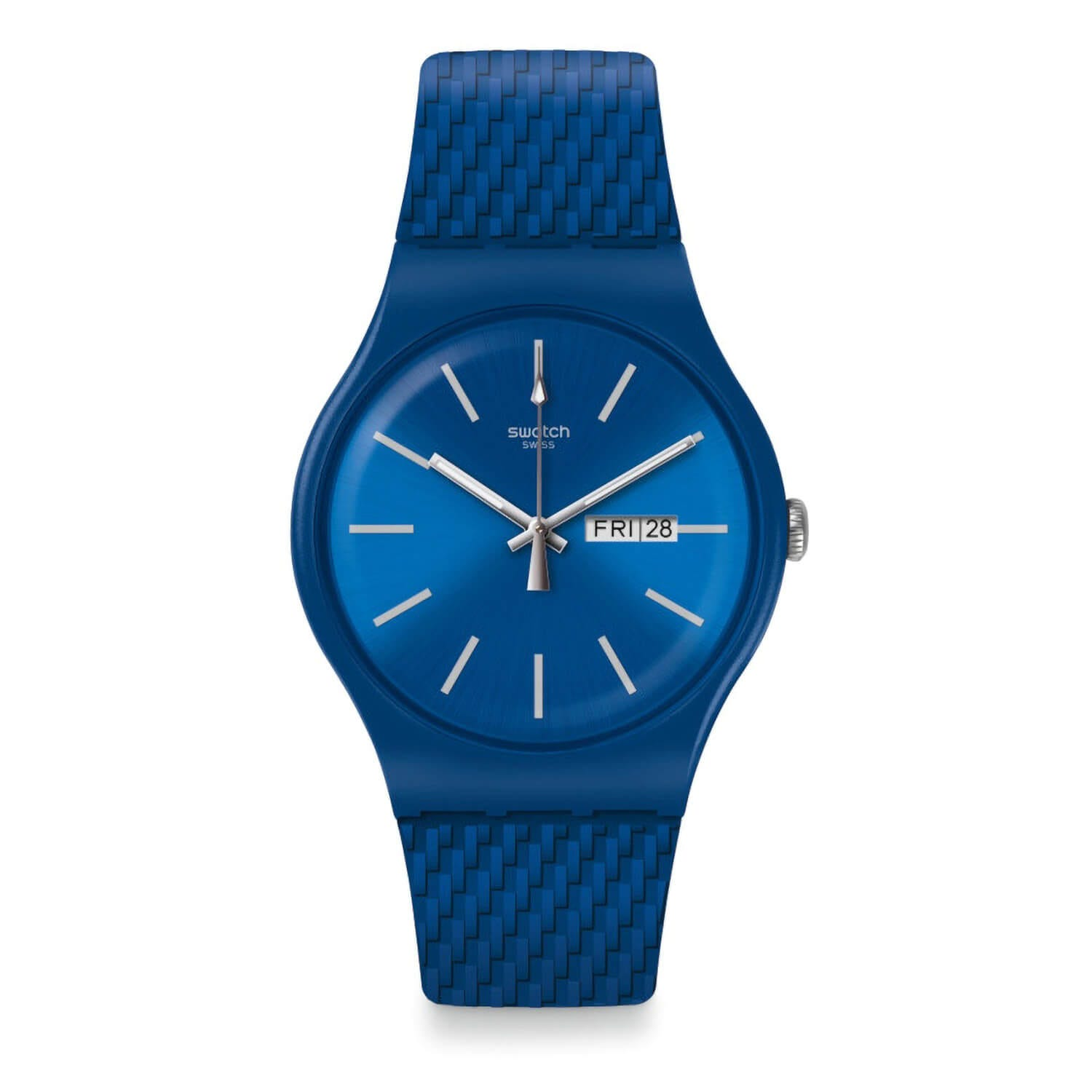 Swatch Unisex Quartz Blue Strap Blue Dial Watch