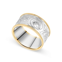 Sterling Silver Gents Arda 10.8mm Flat Band