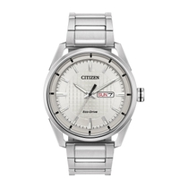 Citizen Eco Drive Silver Dial Stainless Steel Bracelet 42mm Mens Watch