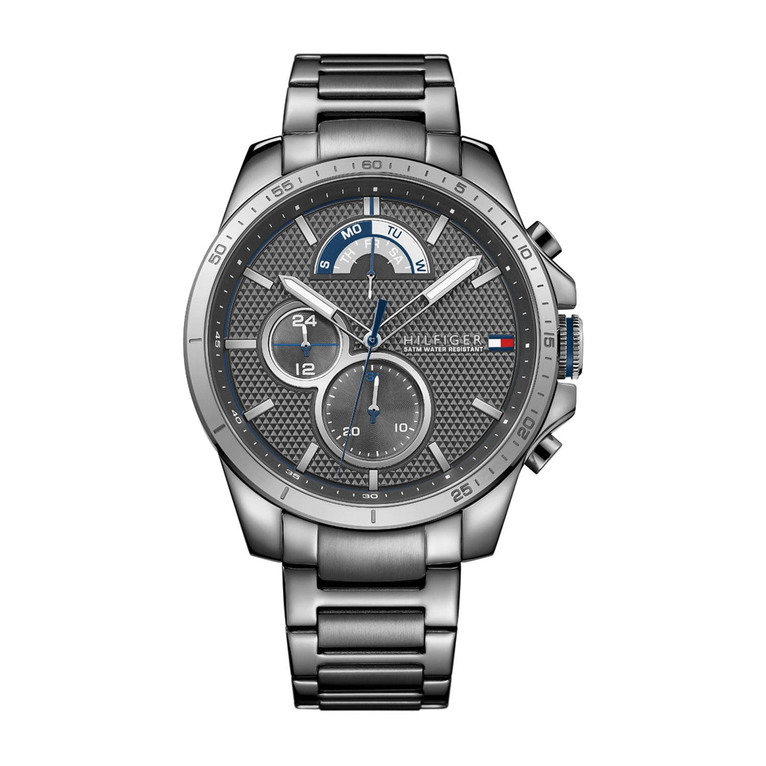 Tommy Hilfiger Grey Chronograph & Stainless Steel Men's Watch