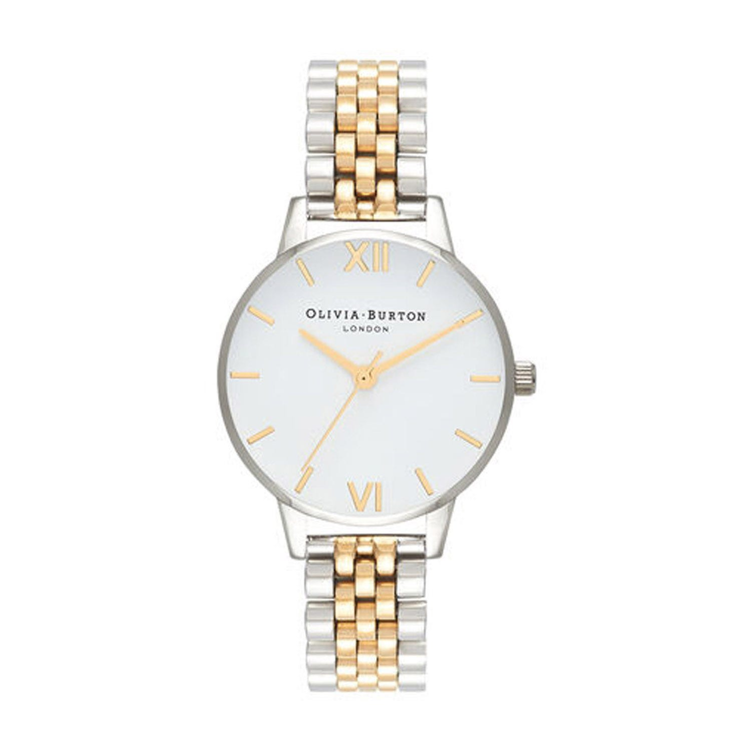Olivia Burton White Dial & Two-Toned Bracelet Ladies' Watch