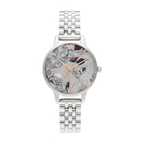 Olivia Burton Abstract Florals Rose Gold & Silver-Toned Ladies' Watch