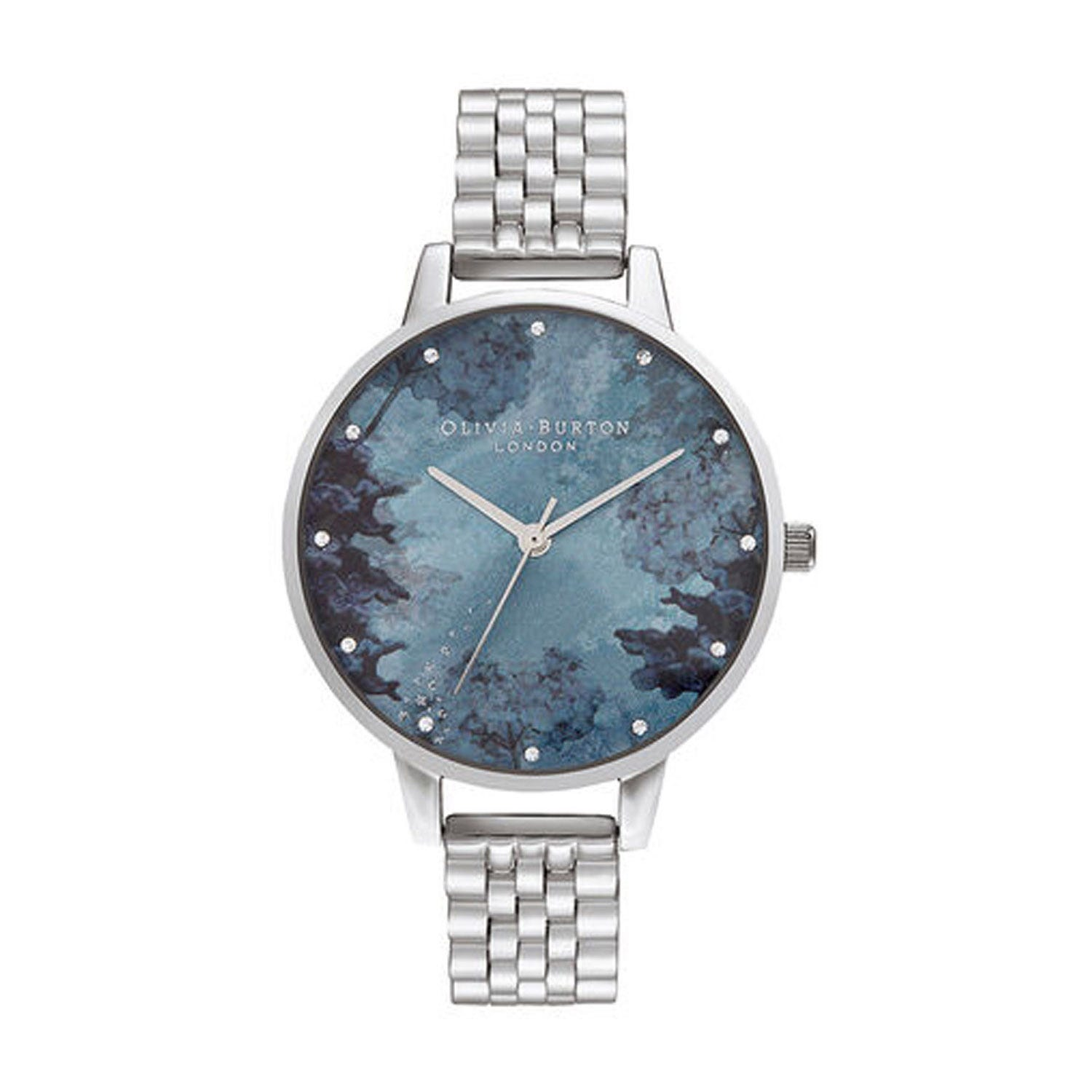 Olivia Burton Under The Sea Blue Dial & Silver-Toned Bracelet Ladies' Watch