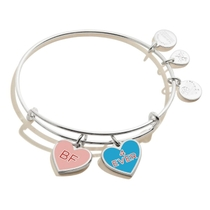 Alex and Ani Silver Plated Best Friends Duo Charm Bangle