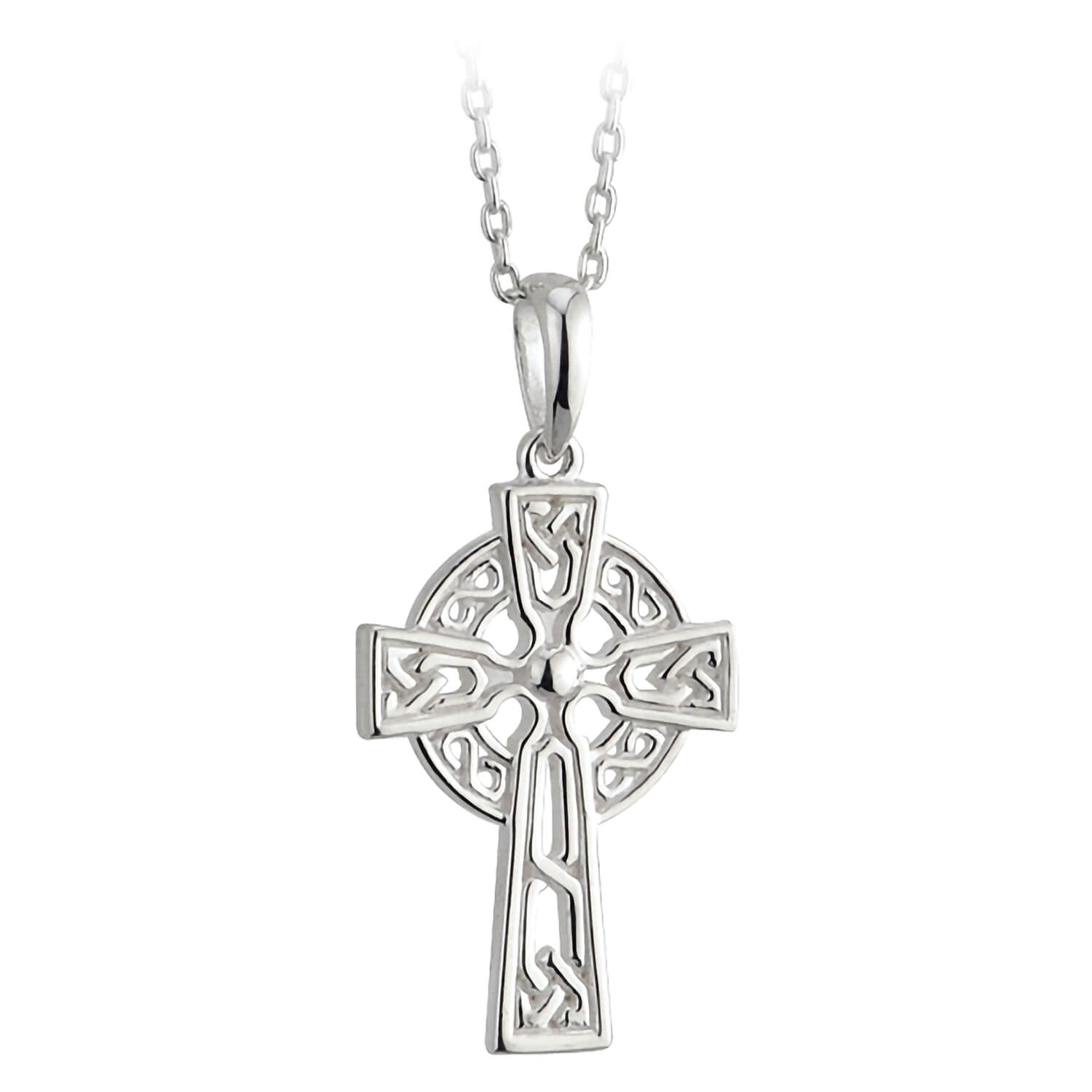 Sterling Silver Small Filigree Celtic Cross Pendant