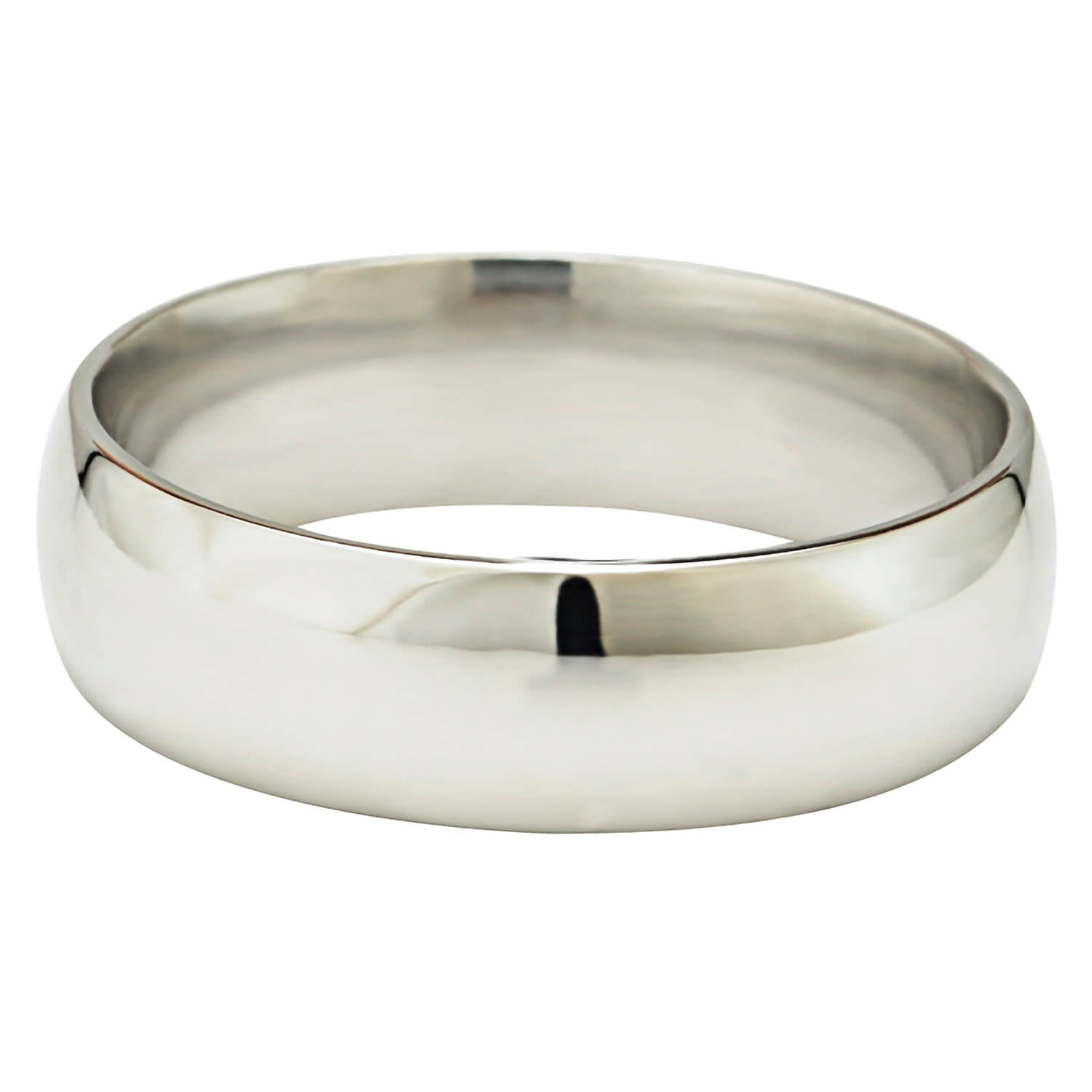 9ct White Gold 6mm Gents Wedding Ring