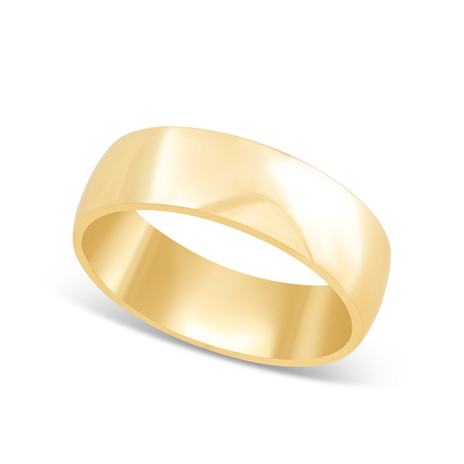 9ct Gold 6mm Gents Wedding Ring